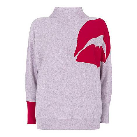 Lips Batwing Knit, ${color}