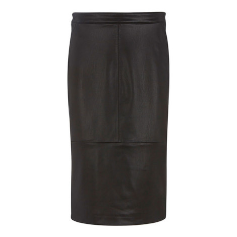 Leather Look Midi Skirt, ${color}