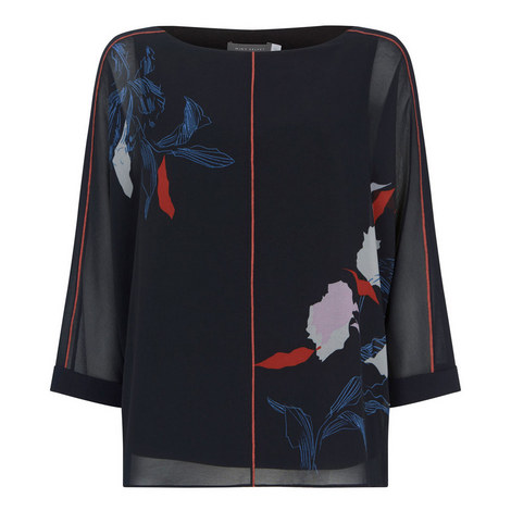 Ruby Print Layered Top, ${color}