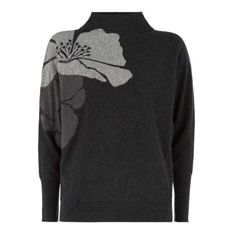 Abstract Floral Batwing Knit, ${color}