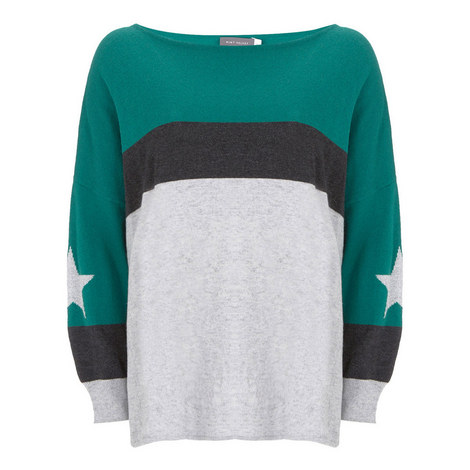 Colour Blocked Star Knit, ${color}
