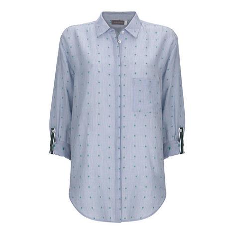 Stripe Cross Stitch Shirt, ${color}