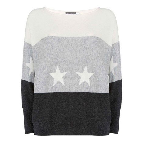 Blocked Star Batwing Knit, ${color}