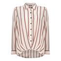 Striped Hem Tuck Shirt, ${color}
