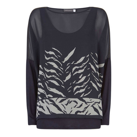 Nadine Print Layered Top, ${color}