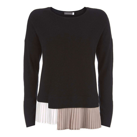 Pleated Layer Sweater, ${color}