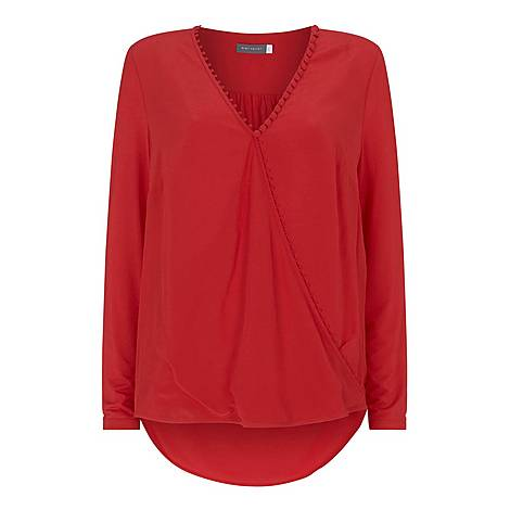 Rouleaux Wrap Effect Top, ${color}