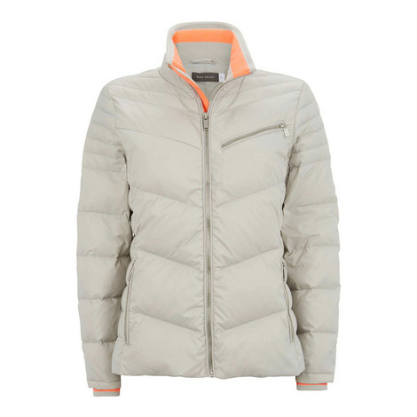 Zip Detail Quilted Jacket, ${color}