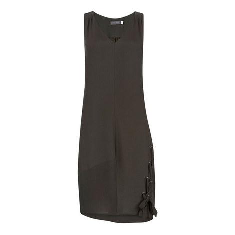 Lace Up Cocoon Dress, ${color}