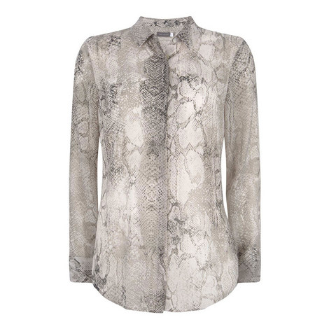 Sasha Snakeskin Blouse, ${color}