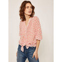 Esme Print Pintucked Blouse, ${color}