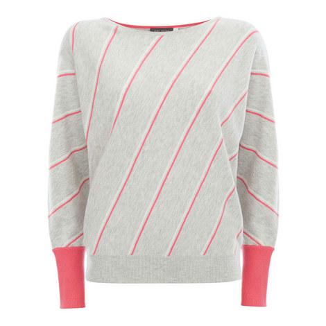 Diagonal Stripe Knit, ${color}