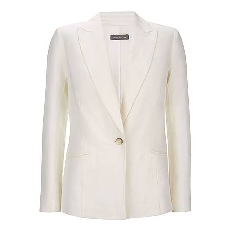 Single Breasted Linen Blazer, ${color}