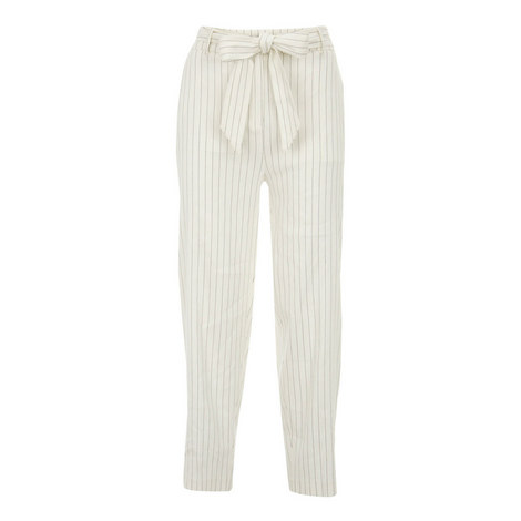 Striped Belted Trousers, ${color}