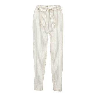 Striped Belted Trousers