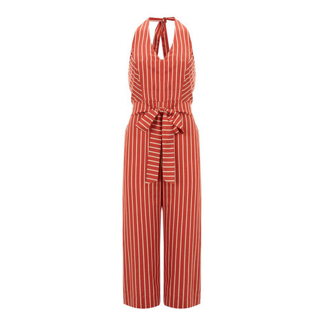 Striped Belted Jumpsuit, ${color}