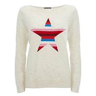 Stripe Star Front Sweater