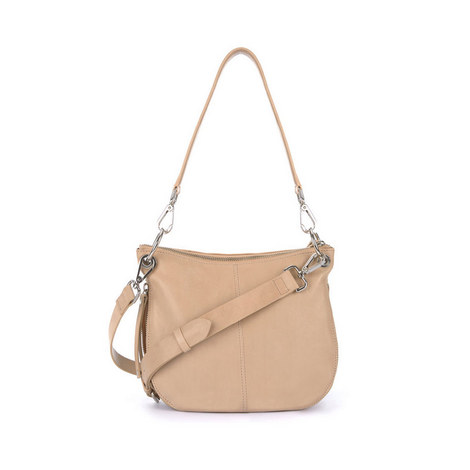 Claire Leather Zip Bag, ${color}