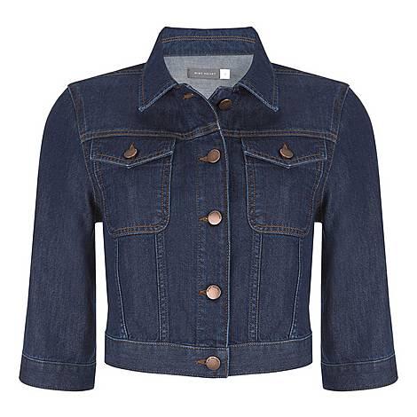 Indigo Cropped Denim Jacket, ${color}