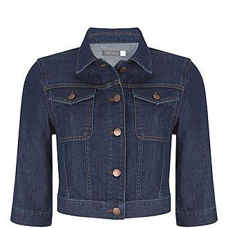 Indigo Cropped Denim Jacket