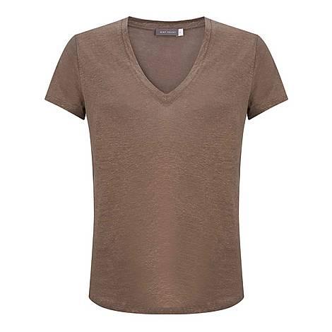 Shimmer V-Neck T-Shirt, ${color}