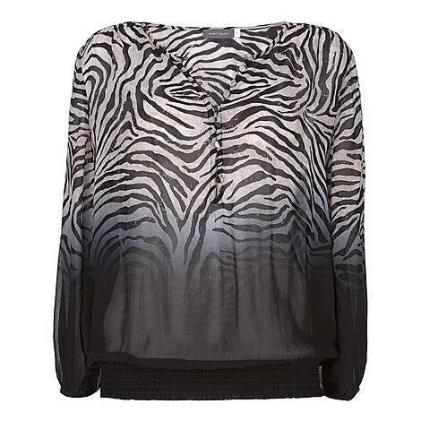 Naomi Zebra Dip Dye Blouse, ${color}