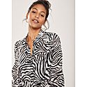 Naomi Animal Print Shirt Dress, ${color}