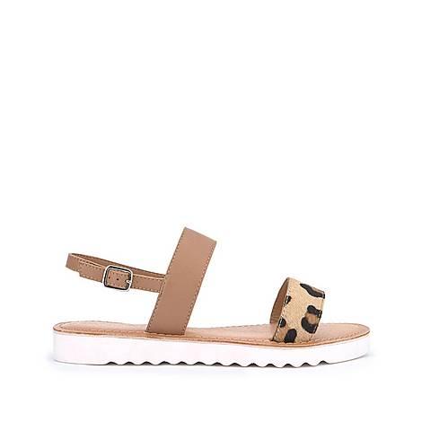 Rach Leopard Sporty Sandals, ${color}
