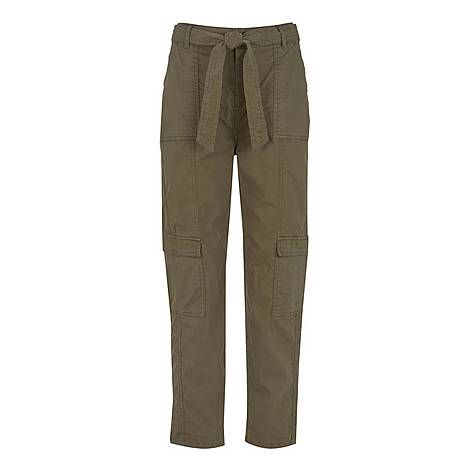 Tie Waist Cargo Trousers, ${color}
