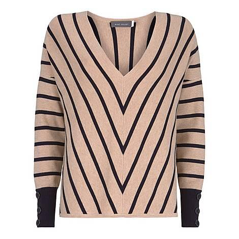 Chevron Striped Sweater, ${color}