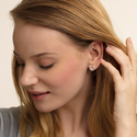 Classic Circle Ear Studs, ${color}