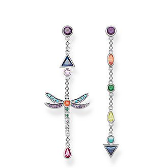 Paradise Colours Dragonfly Drop Earrings