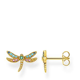 Paradise Colours Dragonfly Stud Earrings