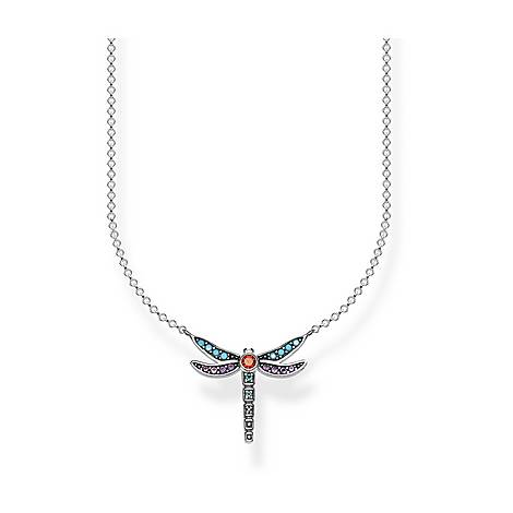 Paradise Colours Small Dragonfly Necklace, ${color}