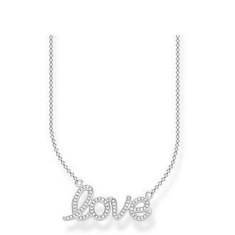 Love Anchor Zirconia Necklace