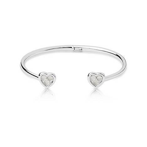 Open Heart Moonstone & Diamond Cuff, ${color}