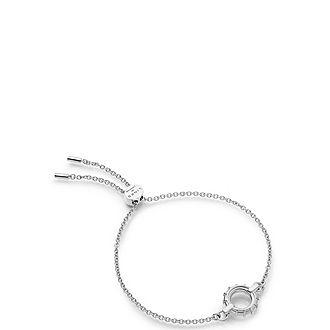 Brutalist Caged Sterling Silver Toggle Bracelet