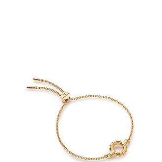 Brutalist Caged Yellow Gold Vermeil Toggle Bracelet