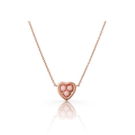Open Heart Opal Mini Pendant Necklace, ${color}