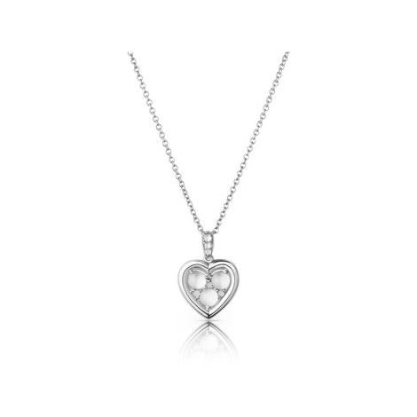 Open Heart Moonstone Heart Pendant Necklace, ${color}