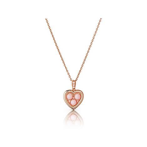 Open Heart Opal Pendant Necklace, ${color}