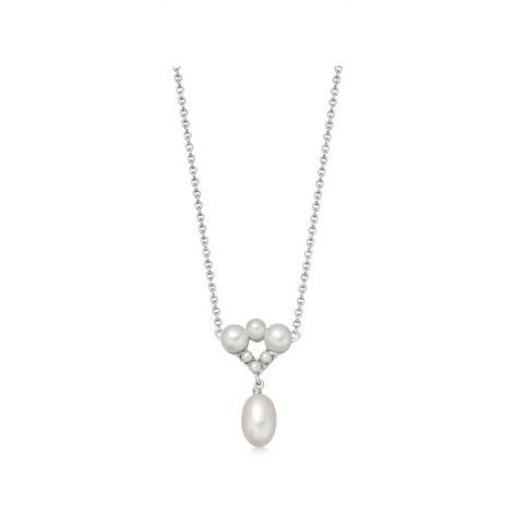 Sterling Silver & Pearl Teardrop Pendant, ${color}