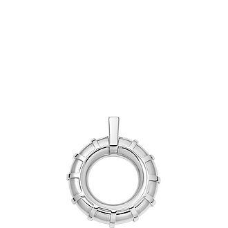 Brutalist Caged Sterling Silver Pendant
