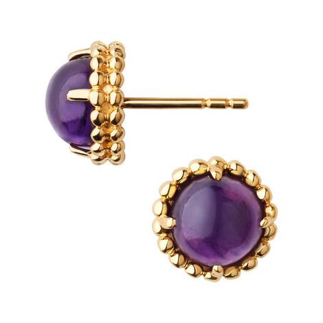 Amethyst Stud Earrings, ${color}