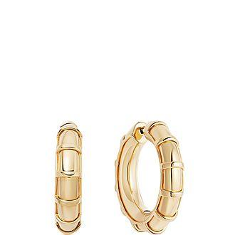 Brutalist Large Yellow Gold Vermeil Hoop Earrings