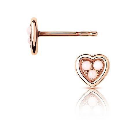 Open Heart Opal Earrings, ${color}