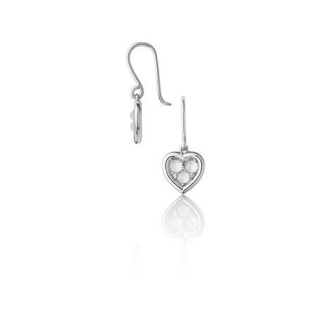Open Heart Moonstone & Diamond Earrings, ${color}