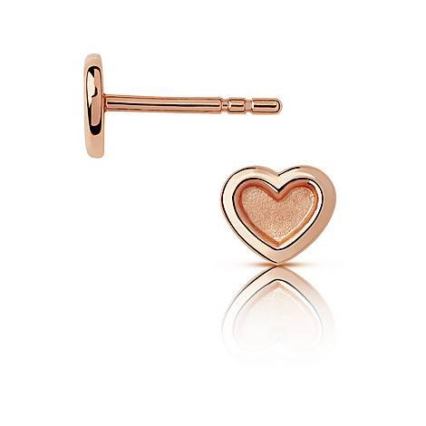 Love Heart Stud Earrings, ${color}