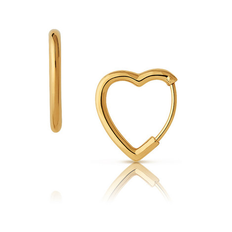 Endless Love Mini Heart Hoop Earrings, ${color}