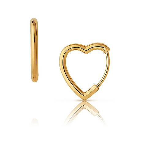 Endless Love Mini Heart Hoop Earrings, ${color}